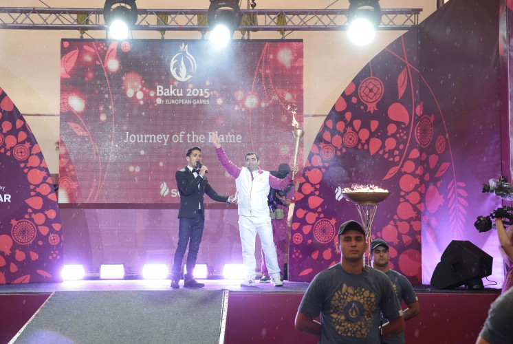 European Games' torch brought to Azerbaijan's Yevlakh district (PHOTO) - Gallery Image