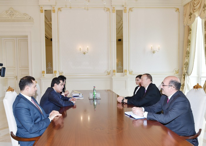 President Ilham Aliyev and his spouse Mehriban Aliyeva received UN High-Representative for Alliance of Civilizations