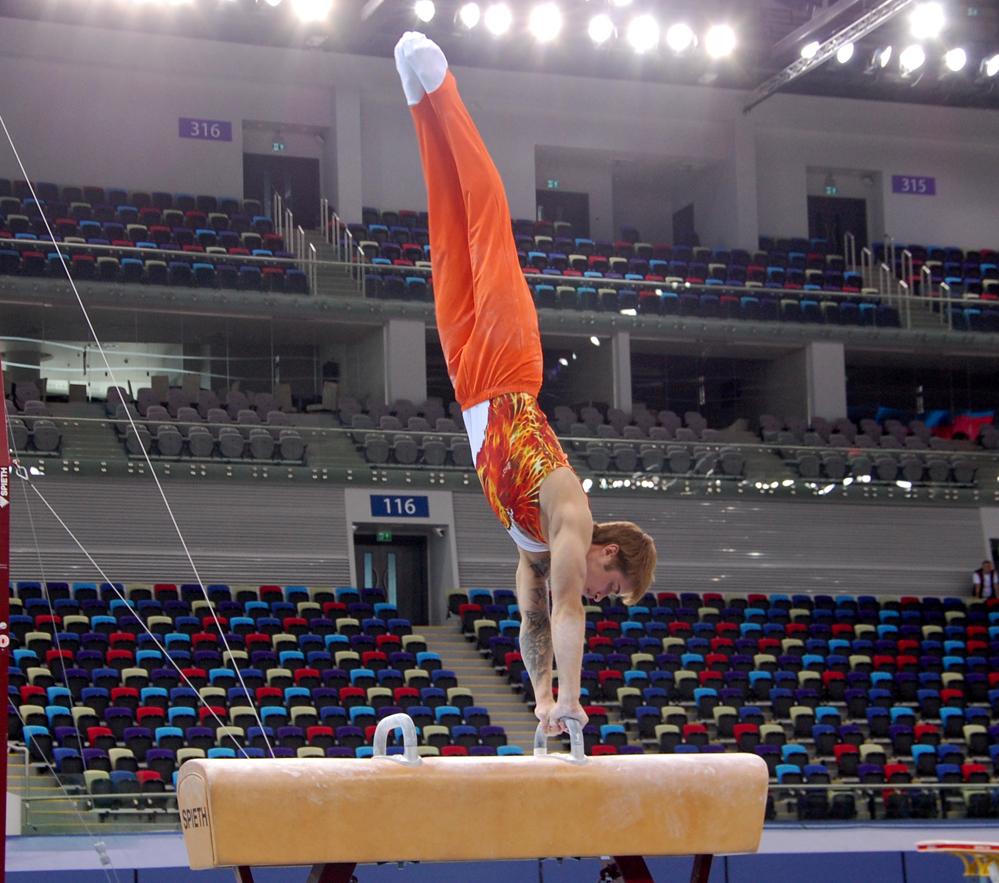 В преддверии Евроигр в Баку прошли проверочные тренировки гимнастов (ФОТО) - Gallery Image