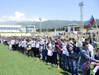 Azerbaijan's Oghuz district welcomes flame of first European Games - Gallery Thumbnail