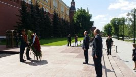 Azerbaijani FM visits Tomb of Unknown Soldier in Moscow (PHOTO) - Gallery Thumbnail