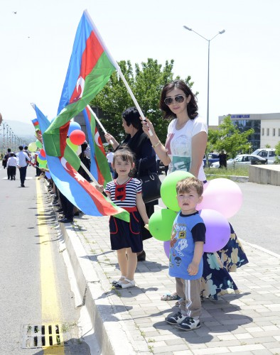 Azerbaijan's Oghuz district welcomes flame of first European Games - Gallery Image