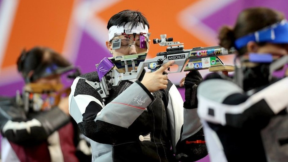 Shooting competitions started as part of Baku's first European Games