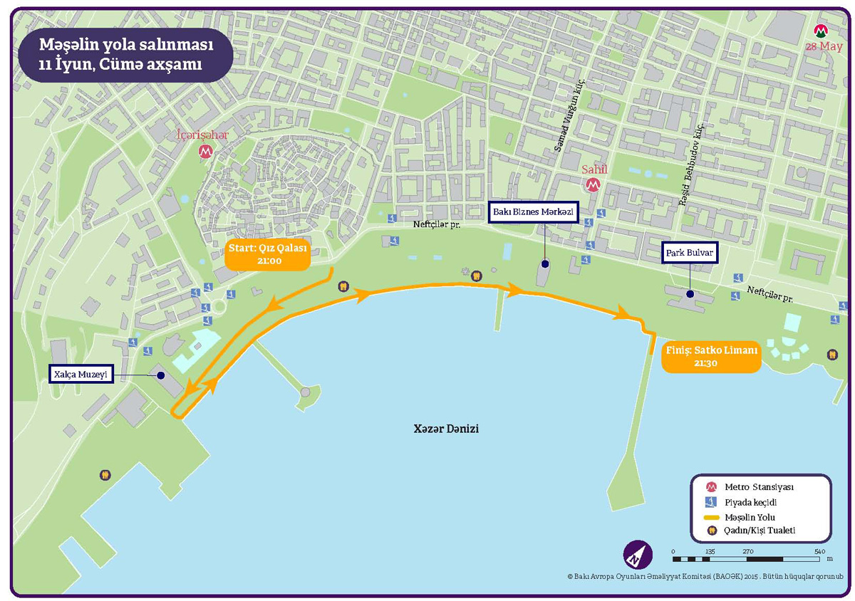 European Games Journey of the Flame route in Baku revealed - Gallery Image
