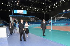 Ilham Aliyev, his spouse review Baku Crystal Hall that will host several competitions during First European Games (PHOTO) - Gallery Thumbnail