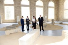 President Ilham Aliyev, his spouse review Stone Annals Museum in National Flag Square (PHOTO) - Gallery Thumbnail