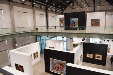 """President Ilham Aliyev, his spouse attend opening of """"Azerbaijani painting in the 20th-21st centuries"""" exhibition (PHOTO) - Gallery Thumbnail"""