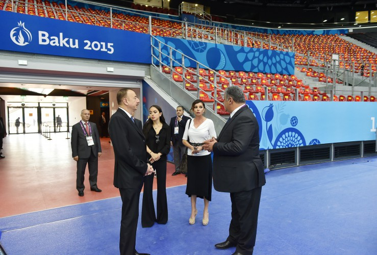 Ilham Aliyev, his spouse review Baku Crystal Hall that will host several competitions during First European Games (PHOTO)