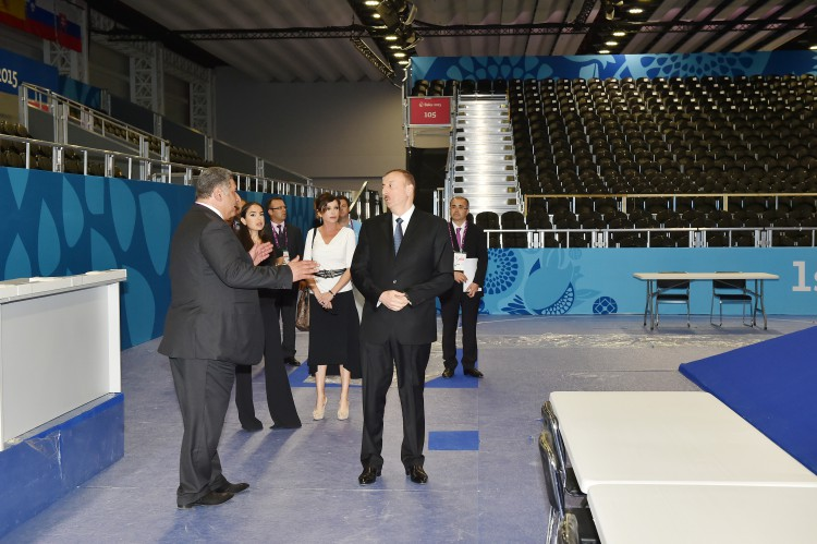Ilham Aliyev, his spouse review Baku Crystal Hall that will host several competitions during First European Games (PHOTO) - Gallery Image
