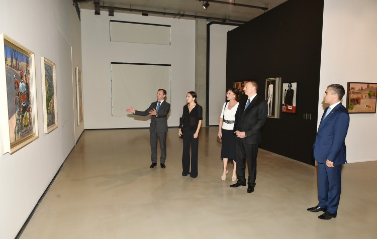 """President Ilham Aliyev, his spouse attend opening of """"Azerbaijani painting in the 20th-21st centuries"""" exhibition (PHOTO)"""