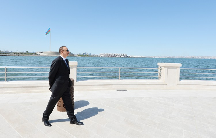 President Ilham Aliyev, his wife  attend opening of Bayil Boulevard - Gallery Image