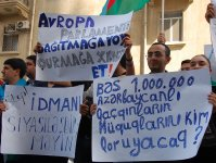 Rally held in front of British embassy in Azerbaijan - Gallery Thumbnail