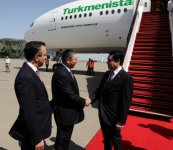 Turkmen president arrives in Baku to attend opening ceremony of European Games - Gallery Thumbnail