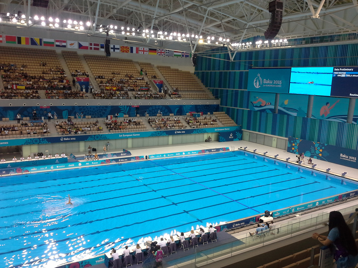 Solo competitions in synchronized swimming start within first European Games Baku 2015 (PHOTO)