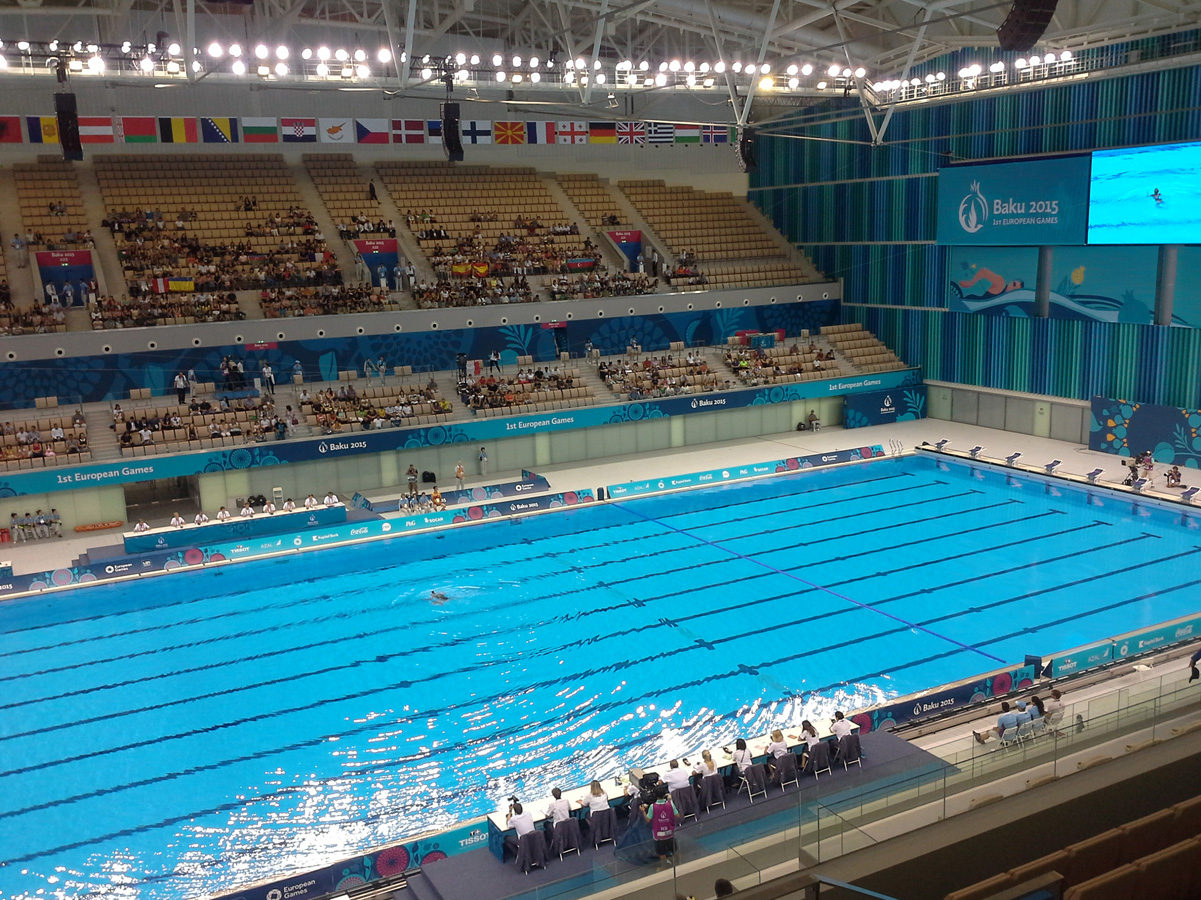 Solo competitions in synchronized swimming start within first European Games Baku 2015 (PHOTO) - Gallery Image