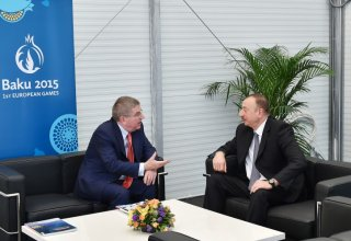 Ilham Aliyev met with President of International Olympic Committee Thomas Bach