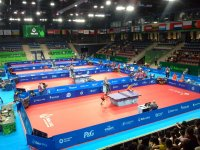 Avropa Oyunlarında qadın yığmalar stolüstü tenis yarışlarında güclərini yoxlayırlar (FOTO) - Gallery Thumbnail