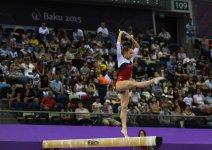 Avropa Oyunlarında idman gimnastikası yarışlarının ikinci günündə idmançılar mübarizələrini davam etdirir (ƏLAVƏ OLUNUB) (FOTO) - Gallery Thumbnail