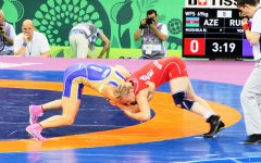 Azerbaijani athlete reaches finals at women's wrestling competitions (PHOTO) - Gallery Thumbnail