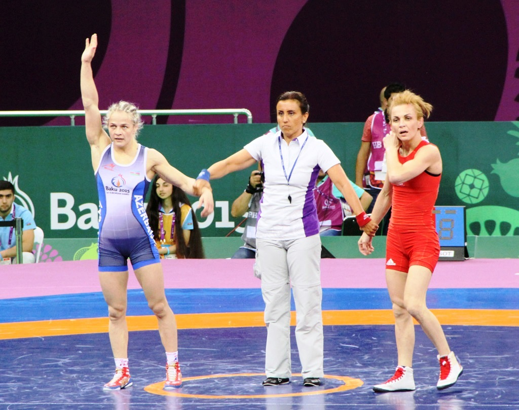 Qadın güləşçimiz Avropa Oyunlarının finalında (ƏLAVƏ OLUNUB 5) (FOTO) - Gallery Image