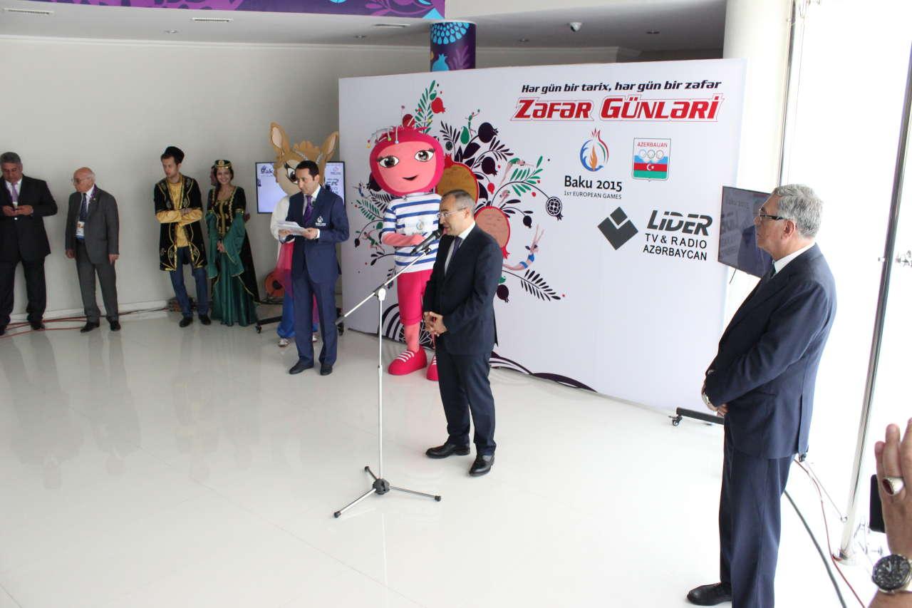 MOK-da Avropa Oyunlarının mükafatçılarının təntənəli təbriketmə mərasimi keçirilib (FOTO) - Gallery Image