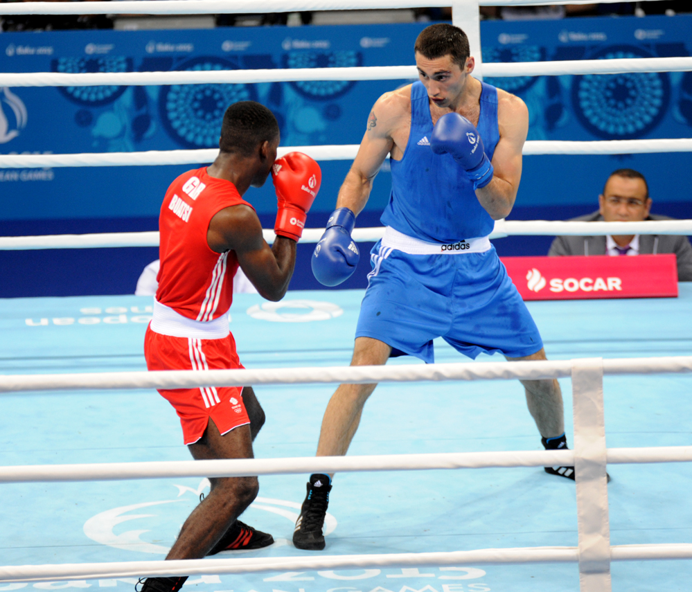 Azerbaijani boxer entered 1/8 finals as part of first European Games (PHOTO) - Gallery Image