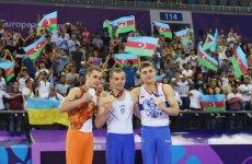Azerbaijan's First Lady Mehriban Aliyeva awards gymnastics winners of Baku 2015 (PHOTO) - Gallery Thumbnail