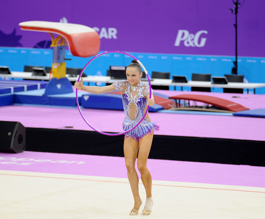 Azerbaijani female gymnast happy with her performance at European Games