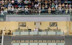 Mehriban Əliyeva idman gimnastikasında kişilər arasında qaliblərin mükafatlandırılması mərasimində iştirak edib (FOTO+VİDEO) - Gallery Thumbnail