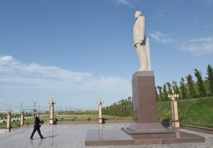 Azerbaijani president attends opening of naval base - Gallery Image