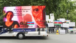 European Azerbaijan Society holding protest action in front of Chatham House building - Gallery Thumbnail
