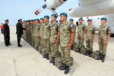 Azerbaijani peacekeepers leave for Afghanistan (PHOTO, VIDEO) - Gallery Thumbnail