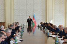 Azerbaijani president chairs Cabinet of Ministers meeting on H1 of 2015 - Gallery Thumbnail
