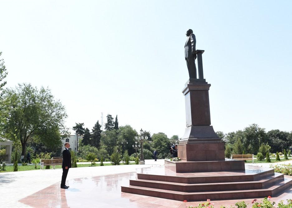 Президент Ильхам Алиев принял участие в открытии парка-бульвара им. Гейдара Алиева в городе Гектепе - Gallery Image