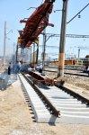 Bakı-Xırdalan-Sumqayıt sərnişin dəmir yolunun təmiri davam edir (FOTO) - Gallery Thumbnail