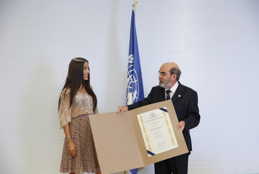 FAO: Personalities such as Leyla Aliyeva have unique convincing power and their messages can be heard by millions of people