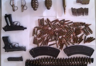 Weapons and ammunition seized in Baku's settlement