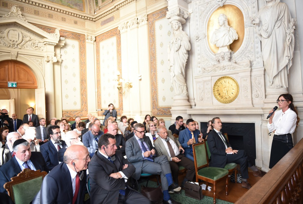 Mehriban Aliyeva takes part in 'Religious Tolerance: The Culture of Coexistence in Azerbaijan' conference in Paris - Gallery Image