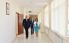 Azerbaijani president reviews Technical and Humanitarian Lyceum after repair - Gallery Thumbnail