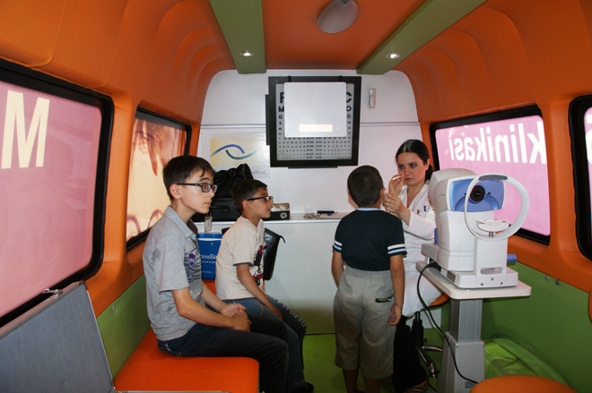 Azercell's Mobile Eye Clinics examines hundreds of people in summer