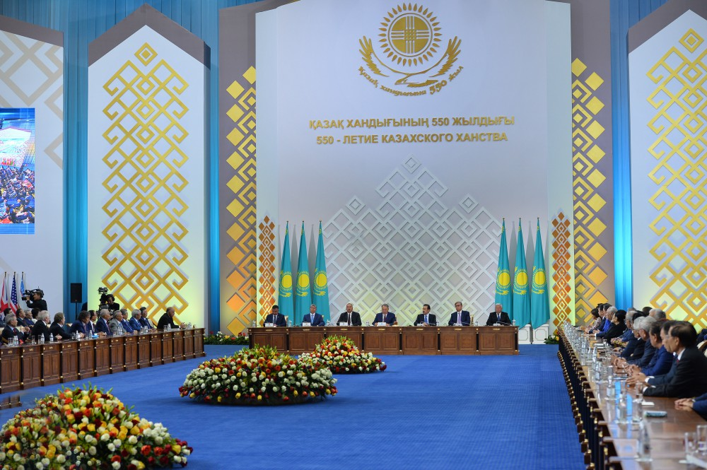 Azerbaijani president attends ceremonial meeting devoted to 550th anniversary of Kazakh Khanate - Gallery Image