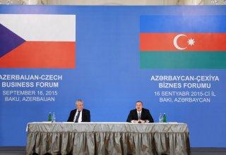 Bakıda Azərbaycan-Çexiya biznes forumu keçirilib (FOTO)