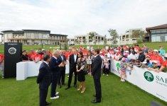 Президент Ильхам Алиев  и его супруга приняли участие в открытии комплекса Международной школы SABIS Sun и Гольф-клуба - Gallery Thumbnail