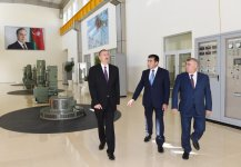 Azerbaijani president attends opening of Goychay hydroelectric power station - Gallery Thumbnail