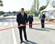 President Ilham Aliyev attends opening of Goychay-Ujar highway - Gallery Thumbnail