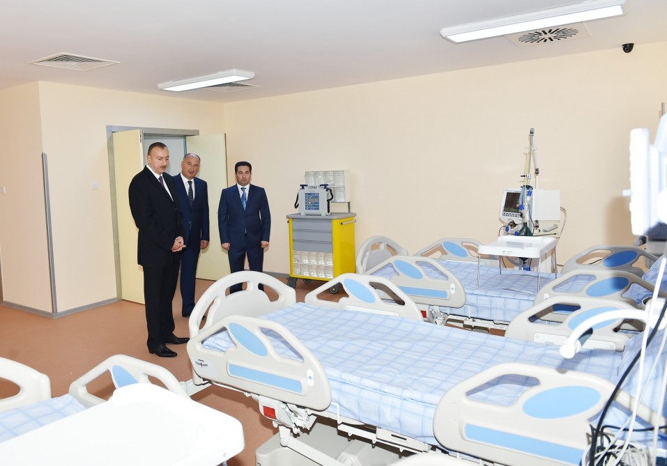 President Aliyev attends opening of new building of Ujar district Central Hospital - Gallery Image