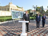 President Aliyev attends ceremony to pump drinking water to Goychay city (PHOTO) - Gallery Thumbnail