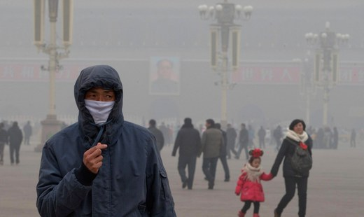 China issues 'orange' level smog warning as Beijing shrouds in heavy fog
