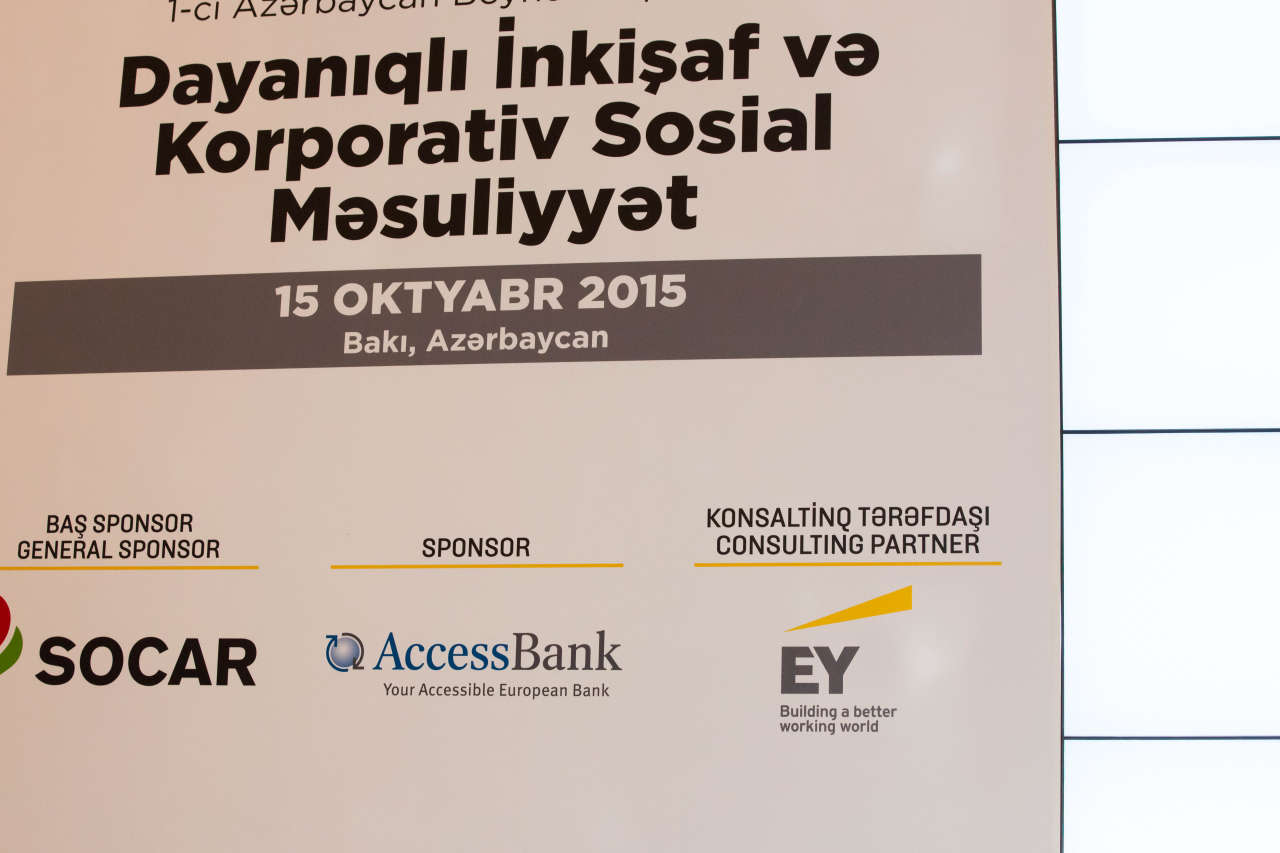 EY Azerbaijan participates as consulting partner in first Sustainable Development & Corporate Social Responsibility Conference - Gallery Image