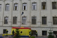 Ministry of Emergency Situations organizes training at Baku Higher Oil School (PHOTO) - Gallery Thumbnail